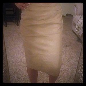 vintage Italian leather pencil skirt